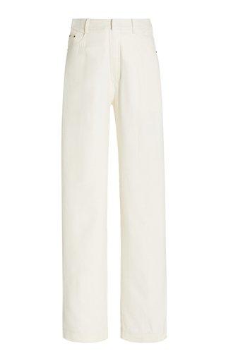 High-Rise Silk Wide-Leg Pants