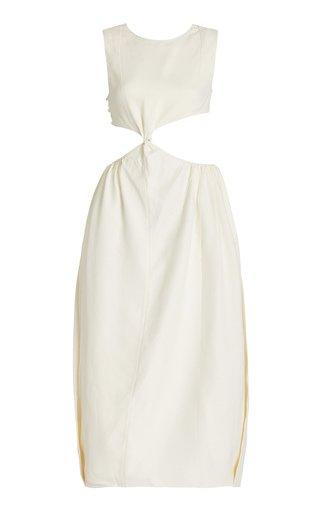 Open-Back Silk Dress