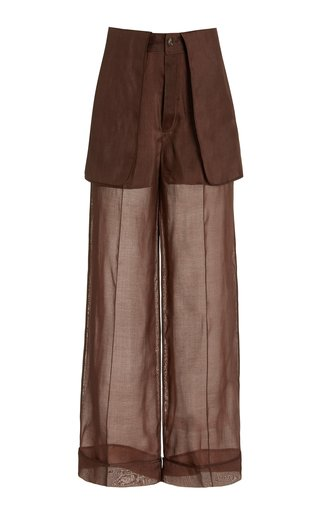 Inside-Out Tailored Silk Trousers