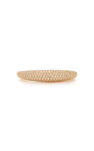 Dome 14k Gold Diamond Ring