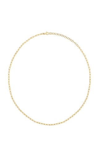 Mini 14k Gold Chain-Link Necklace