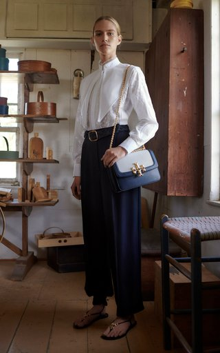 Crepe Oversized Wide-Leg Trousers