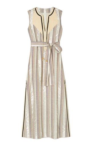 Striped Cotton-Blend Caftan