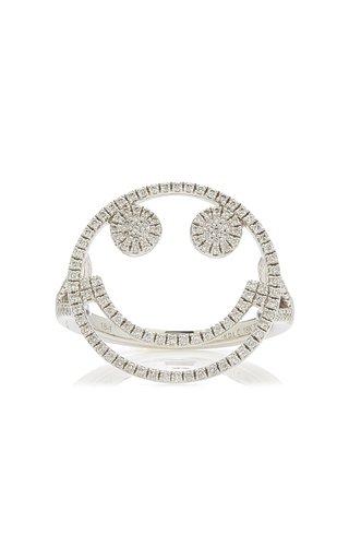 Smile 18k White Gold Diamond Ring