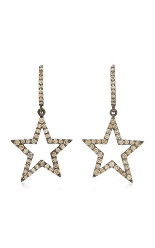 Star 18k Gold Diamond Earrings