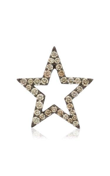 Star 18k Gold Diamond Pendant