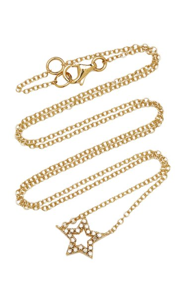 Star Charm 18k Gold Diamond Necklace