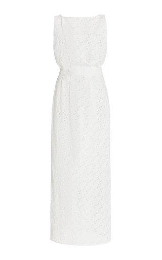 Eyelet Cotton Midi Dress