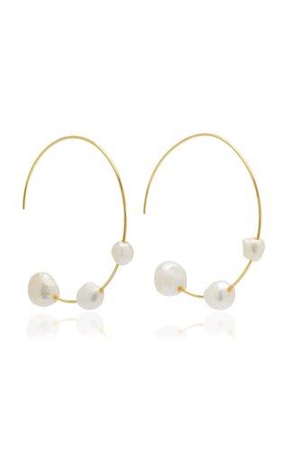 Nubia Gold-Tone Pearl Earrings