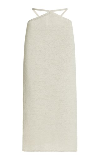 Hedda Cutout Cotton-Blend Knit Midi Skirt