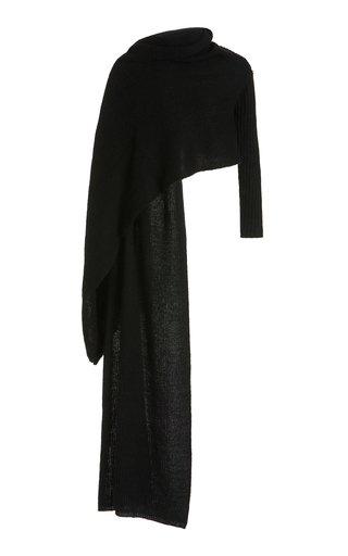 Izzie Draped Ribbed-Knit Shawl Cardigan
