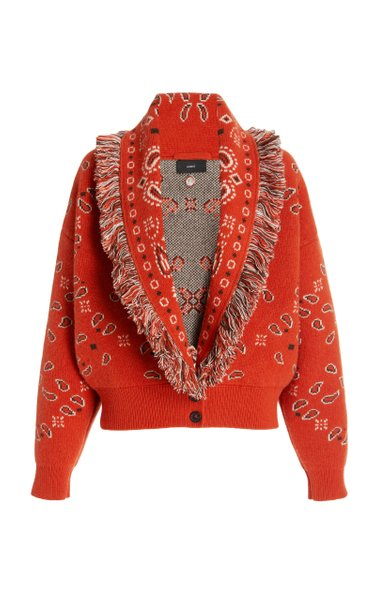 Bandana Wool-Cashmere Bomber Jacket