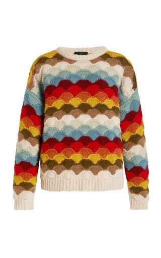 Rainbow Mountains Alpaca-Blend Sweater