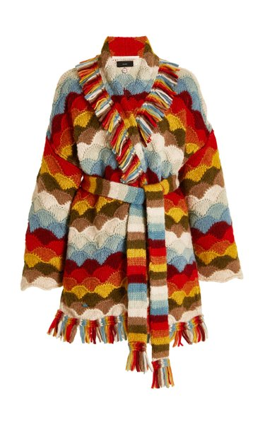 Rainbow Mountains Alpaca-Blend Cardigan