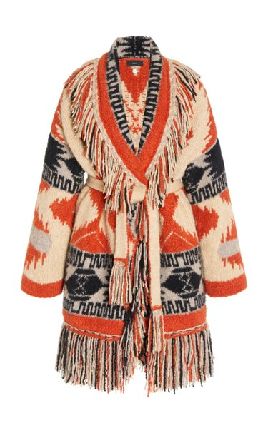 Andean Icon Fringed Cashmere-Blend Cardigan
