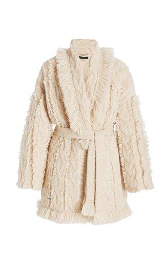 Salar De Uyuni Belted Alpaca-Blend Cardigan