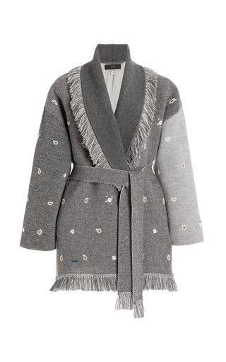 Bandana Embroidered Patchwork Wool Cardigan