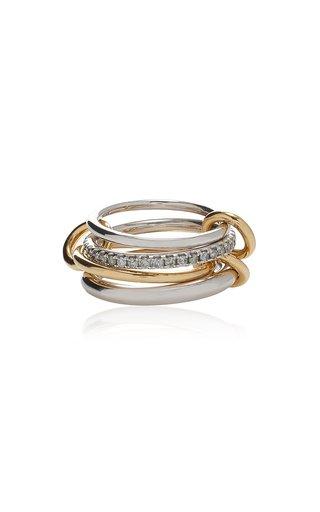 Nimbus Sterling Silver, 18K Yellow Gold Diamond Ring