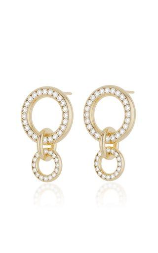 Canis 18K Yellow Gold Diamond Earrings