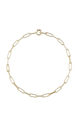 Elliptical 18K Yellow Gold Chain Necklace