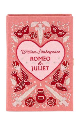 Romeo & Juliet Embroidered Book Clutch