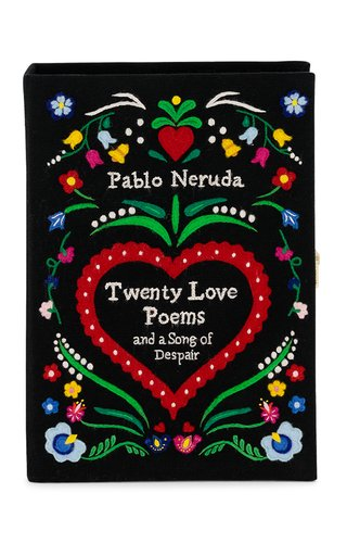 Pablo Neruda Twenty Love Poems Embroidered Clutch