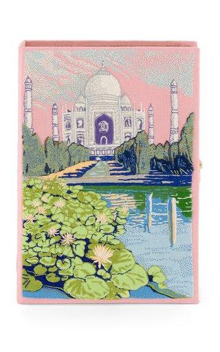 Taj Mahal Embroidered Clutch