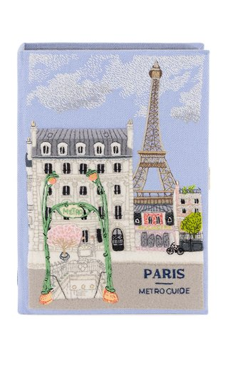 Paris Metro Guide Embroidered Clutch