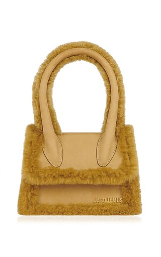 Le Chiquito Shearling Top Handle Bag
