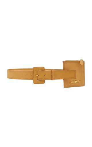 Pouch-Detailed Leather Belt