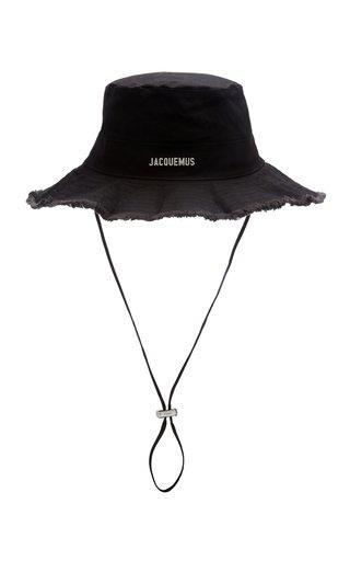 Le Bob Artichaut Frayed Cotton-Blend Bucket Hat