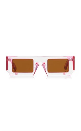 Les Soleil Square-Frame Acetate Sunglasses