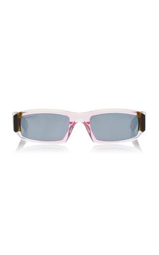Les Altù Square-Frame Acetate Sunglasses