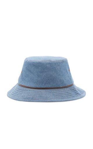 Washed Cotton Denim Bucket Hat