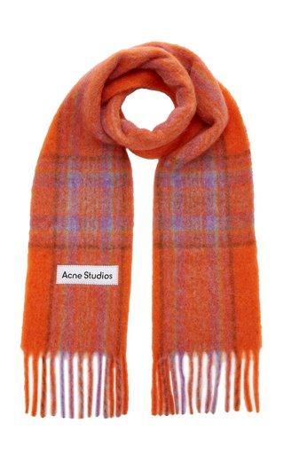 Vally Oversized Plaid Knit Scarf