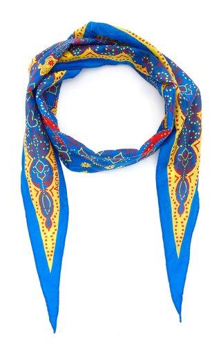 Bandana-Print Cotton-Silk Foulard