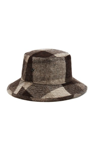 Checked Wool Bucket Hat