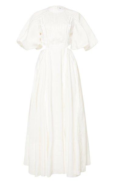 Revitalize Cutout Linen-Blend Midi Dress