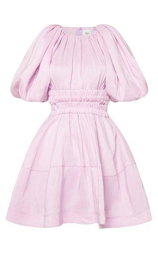 Solitude Cutout Linen-Blend Mini Dress