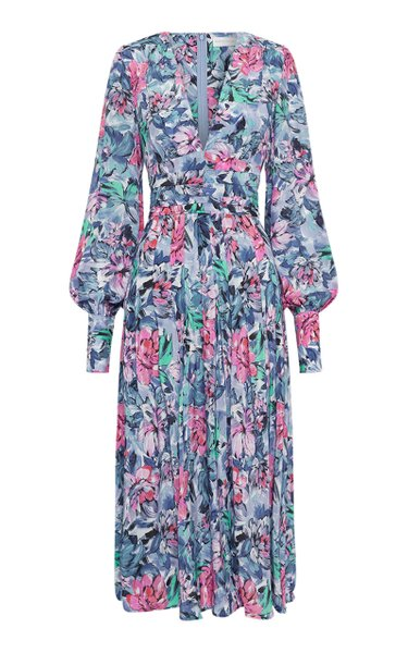La Violette Floral-Printed Jersey Dress