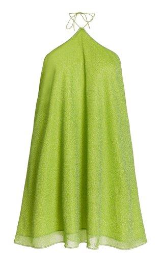 Lumiere Metallic Halter Mini Dress