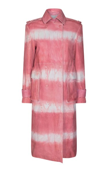 Pirene Tie-Dye Leather Coat