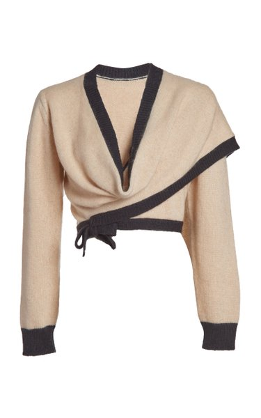 Commodia Silk-Blend Wrap Sweater