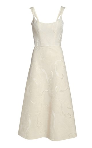 Thyia Broderie Anglaise Midi Dress