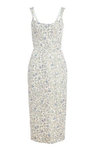 Numa Brocade Cotton-Blend Midi Dress