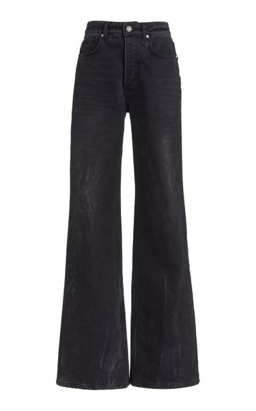 Rigid High-Rise Flared Leg Jeans