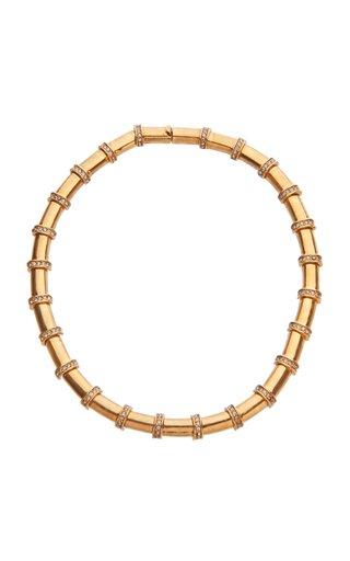 Circe Swarovski Embellished Bar Collar Necklace