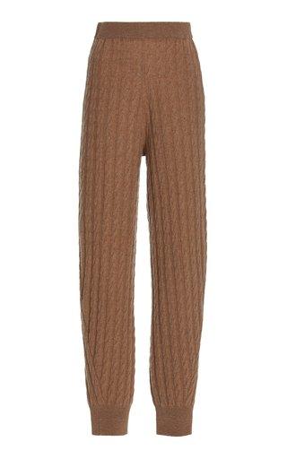 Cashmere Cable-Knit Pants