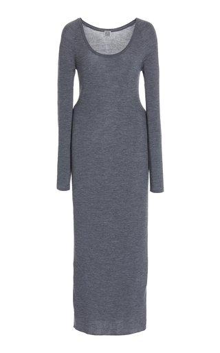 Ribbed Wool Maxi Dress