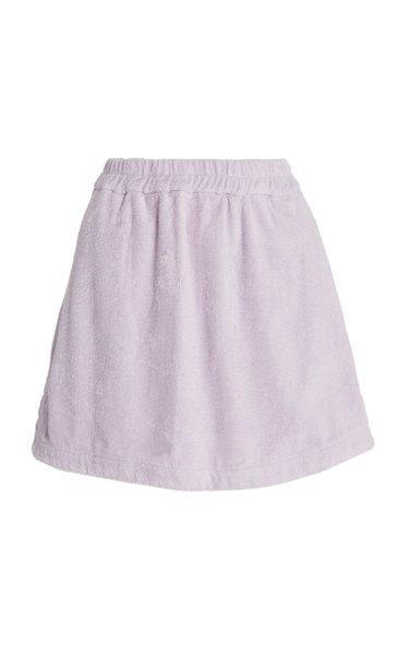 Isola Cotton-Terry Mini Skirt